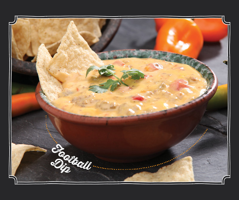 september recipe of the month football dip best choice